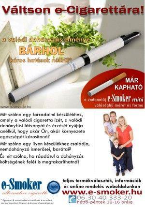 e-Smoker hirdetés 2008-ból